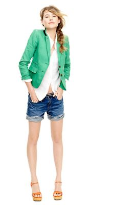 colored blazer! with shorts and white button down **another win combo.  I had a dressy tank instead of a button up**