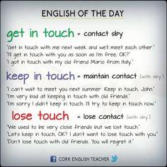 verbs + touch #verbs #vocabulary