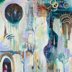 Flora Bowley: artist, author, and gentle guide - Flora Bowley Flora Bowley, Collage, Abstract Canvas, Abstract Paintings, Pastel Paintings, Learn To Paint, Fractal Art, Deco, Craft
