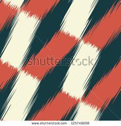 Abstract fragmentary edges geometric print. Seamless pattern. - stock photo