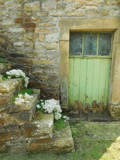 Old stone and peeling paintwork....