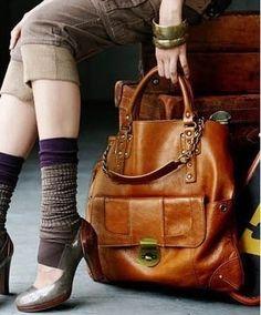 Trendy Woman s High Quality Brown Handbag With Brass Button 9 Beautiful Handbags