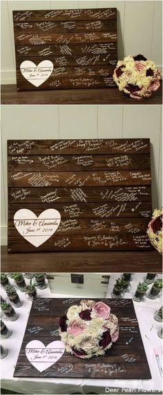 20 Creative Rustic Wooden Wedding Guest Books from Etsy Country Barn Weddings, Rustic Weddings, Wedding Rustic, Farm Wedding, Romantic Night Wedding, Night Wedding Photos, Wedding In The Woods, Night Wedding Photography, Wooden Wedding Guest Book