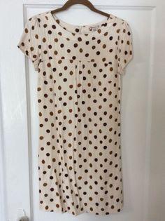 Forever 21 cream polka dot shift dress.  NWOT.  Size M (runs small) $20 shipped in U.S.