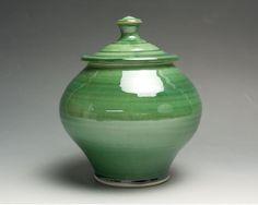 Handcrafted porcelain tea caddy kitchen storage by BlueParrotPots, $40.00