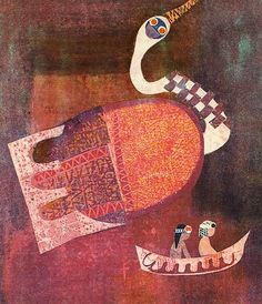 Viera Bombová (1932-2005) was a master of the dreamlike Slovak book illustrations of the 60s and 70s. Of this poetic surrealism assimilating many elements of archaic and folk art, a main source was Vincent Hložník who in the 1950s educated at the Bratislava art school a great generation of young illustrators – we will also publish from their graphics.