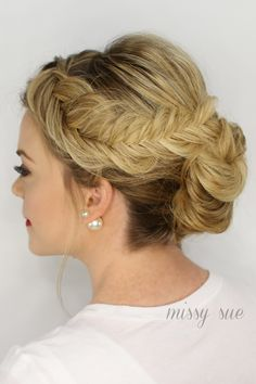 Inverted Fishtail Braid Updo #swoon