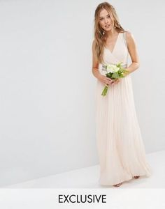 TFNC | TFNC WEDDING Pleated Embellished Maxi Dress