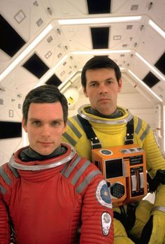 Keir Dullea and Gary Lockwood on the set of '2001: A Space Odyssey', 1968. Photo by Dmitri Kessel.