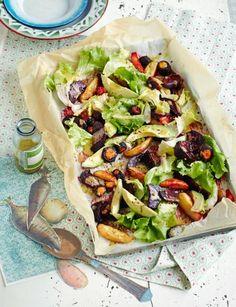 Ofengemüse-Avocado-Salat-Mix