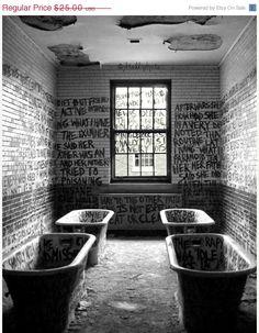 Abandoned Asylum Manteno State Hospital Illinois Set Of 3 Black And White Photography Prints Mental Institution Architecture Wall Art