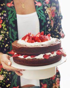 Katie Lee's Strawberry Brownie Layer Cake