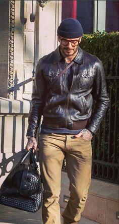 Smart Casual Men, Stylish Men, David Beckham Style, Best Leather Jackets, Gents Fashion, Dapper Men, Dope Outfits, Men Looks, Menswear