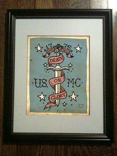 USMC Tattoo Art Limited Edition Print