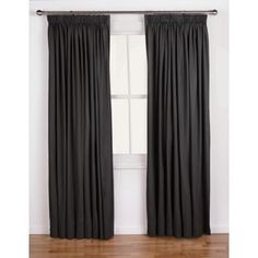 Buy ColourMatch Lima Pencil Pleat Curtains 117x183cm Jet Black at Argos.co.uk, visit Argos.co.uk to shop online for Home furnishings, Limited stock Home and garden,…