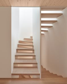 Staircase Tagged: Staircase and Wood Tread. Dwell's Favorite Photos from Semi detached house on a hillside. Browse inspirational photos of modern staircases. Architecture Design, Facade Design, Fashion Architecture, Modern Staircase, Staircase Design, Semi Detached, Detached House, Built In Bath, Agi Architects