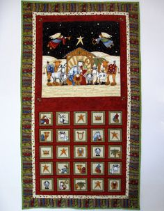 Advent Calendar   Whimsical Nativity Wall Hanging  Religious. $67.00, via Etsy.