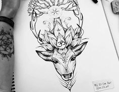 Deer tattoo commission