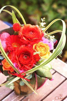 『Wild Strawberry』さんのフラワーアレンジレッスンの作品です♪|Chances News バレンタインの1Day Lesson開催します♪