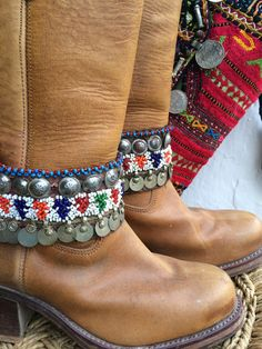 Bohemian boot belts from Ibiza no 8 by AUROBELLE on Etsy  made in Ibiza with much love from us
