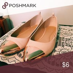 Charlotte Russe Metallic Flats (worn once) Rose gold flats witch metallic tips, great condition only worn once! Charlotte Russe Shoes Flats & Loafers
