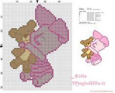 Piglet (winnie The Pooh) cross stitch chart