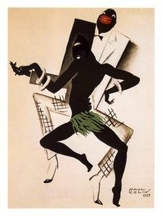 Bal Negre, Jazz Art Deco Poster, Artist: Paul Colin, 1927