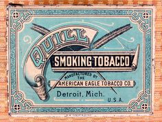 Quill tobacco tin