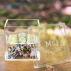 Boîte à alliance transparente à personnaliser pour votre mariage - http://www.instemporel.com/s/12597_216328_boite-alliance-transparente-a-personnaliser