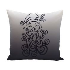 """The Holiday Aisle Santa Baby Decorative Holiday Print Throw Pillow Size: 20"""" H x 20"""" W, Color: Light Red"""
