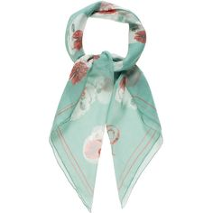Pre-owned Alexander McQueen Floral Skull Print Scarf ($145) ❤ liked on Polyvore featuring accessories, scarves, green, floral shawl, multi colored scarves, colorful scarves, floral scarves and green scarves