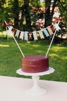 diy cake banner