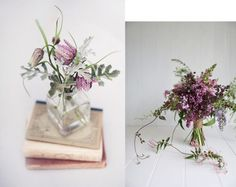 Sime old books, vintage ink wells or Mason jars and wild flowers would make pretty centerpieces at a Vintage Wedding. Vignettes for each table! Romantic Flowers, Love Flowers, Wedding Flowers, Wild Flowers, Ball Mason Jars, Inspiring Things, All Things Purple, Spring Has Sprung, Diy Wedding