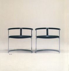A pair of Sculpture chairs all in black