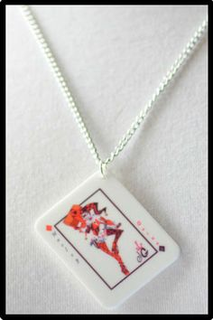 Harley Quinn Necklace by Leren on Etsy, £10.00