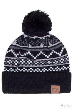 0530dfb419f3d CC Snowflake Pattern Knit Hat