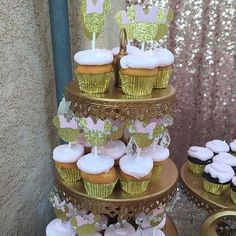 Gold Minnie Mouse Cupcake Toppers Set of 12 by JuliaGraceBoutique