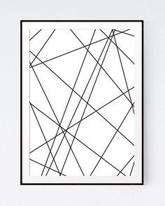 White Wall Art digital download print, geometric art print, minimalist art
