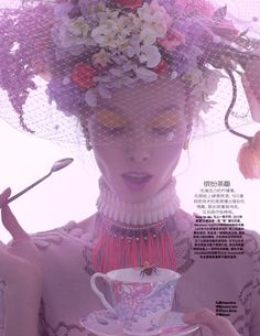 Tea-Time – Inspired by English style of the past, Marie Claire China (Sep 2012) photographer Amber Gray and sylist Guillaume Boulez.