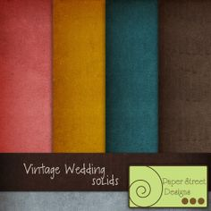 Vintage Wedding ~ solids  - Free Digital Papers from Paper Street Designs
