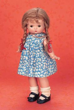 """Playful Art - The Century Doll: 101 Rare American Composition """"Factory Put-together"""" Patsy Baby with Patsy Wig and Body"""