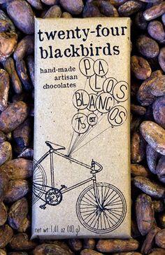 twenty four black birds artisan chocolate packaging
