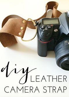 6th Street Design School: DIY Leather Camera Strap