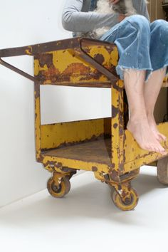 Industrial Factory Cart by RealGoodWorks on Etsy, $1800.00