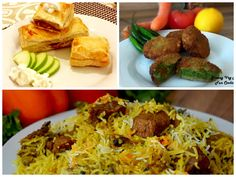 Ramadan meal plan day 1. 1.For snack greeny veg nuggets 2. For main course beef yakhni biryani. 3. For dessert apple pie.