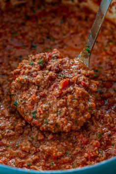 A classic Bolognese Sauce should be in every home cook's repertoire! My version is smooth, rich, hearty and slow cooked to perfection. Sauce Recipes, Meat Recipes, Cooking Recipes, Dinner Recipes, Slow Cooking, Recipies, Italian Dishes, Italian Recipes, Italian Foods