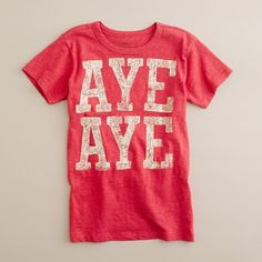 really want to diy this for T. Silhouette should be able to handle the letters! via crewcuts
