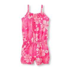 Toddler Girls Sleeveless Hibiscus Print Romper