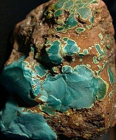 """TURQUOISE  --  One of the first mined gemstones  --  The oldest known use was for Queen Zar's bracelets, the 2nd ruler of Egypt's 1st Dynasty, circa 5,500 BCE.  Sinai, Egypt was inhabited by the Monitu & was called Mafkat or """"Country of Turquoise"""" as it was so plentiful.  Egyptians were mining turquoise at Serebit al-Khadim on the Sinai Peninsula in 3000 BCE."""