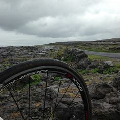 Before the deluge. #cycling in the Burren, Ireland.